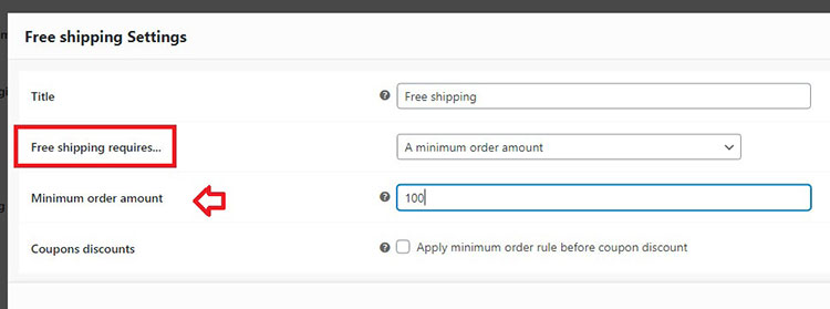 woocommerce free shipping up to