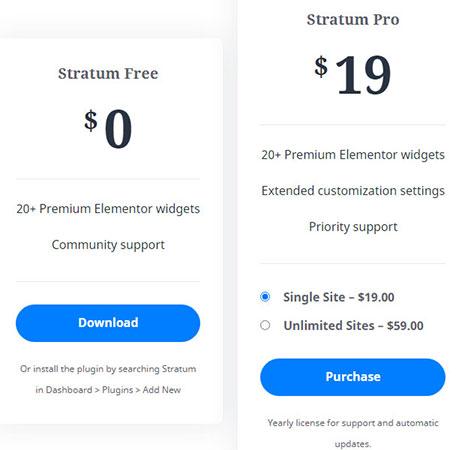 Stratum pricing plans.
