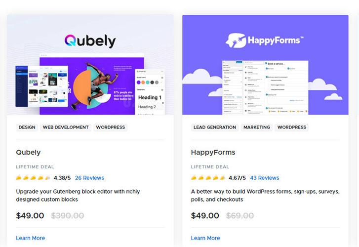 WordPress deals on AppSumo marketplace.