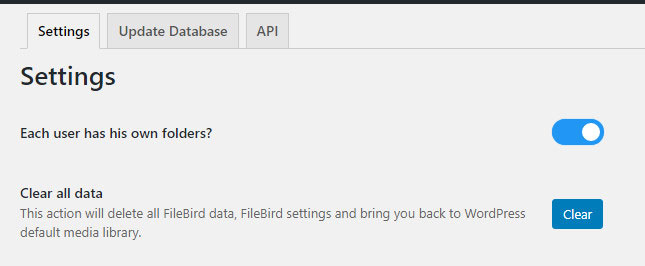 Set so that Admin gets access only to the folders that they have created.