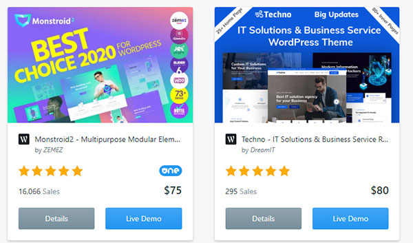 WordPress themes and plugins on Template Monster marketplace.