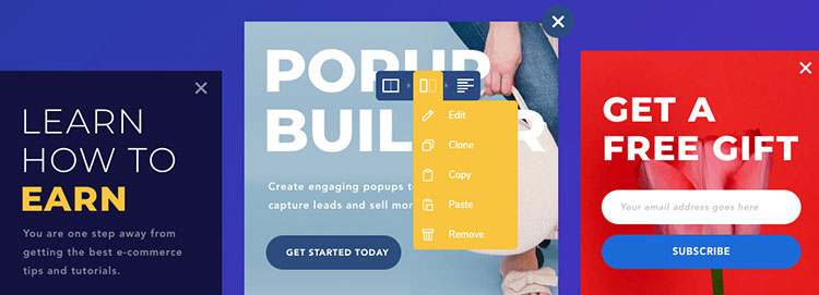 Visual Composer popup builder.
