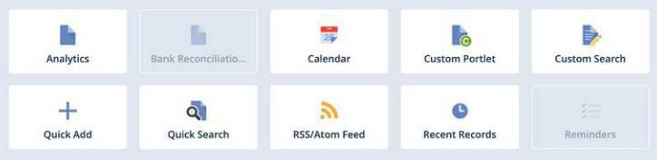 NetSuite widgets example.