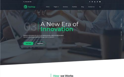 Techup IoT and AI Tech Startup WordPress Theme.