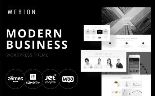 Webion - Minimal Elementor WordPress Theme for Services.