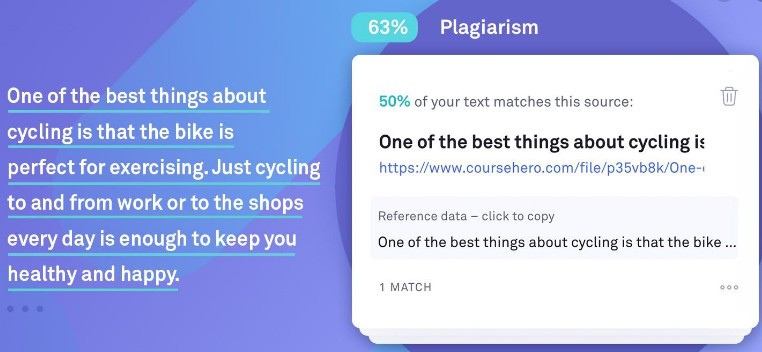Grammarly plagiarism checker tool.