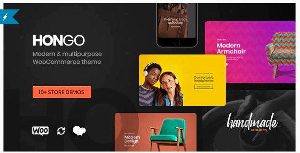 Hongo modern WooCommerce WordPress theme.