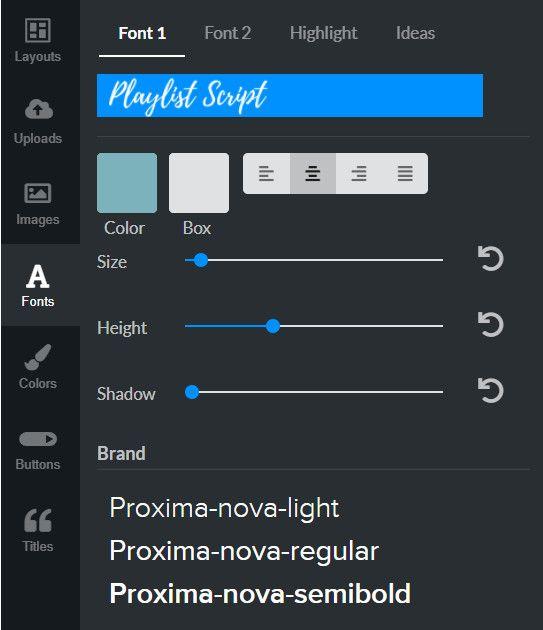 RelayThat custom fonts.