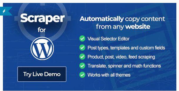 WordPress content scraper plugin.