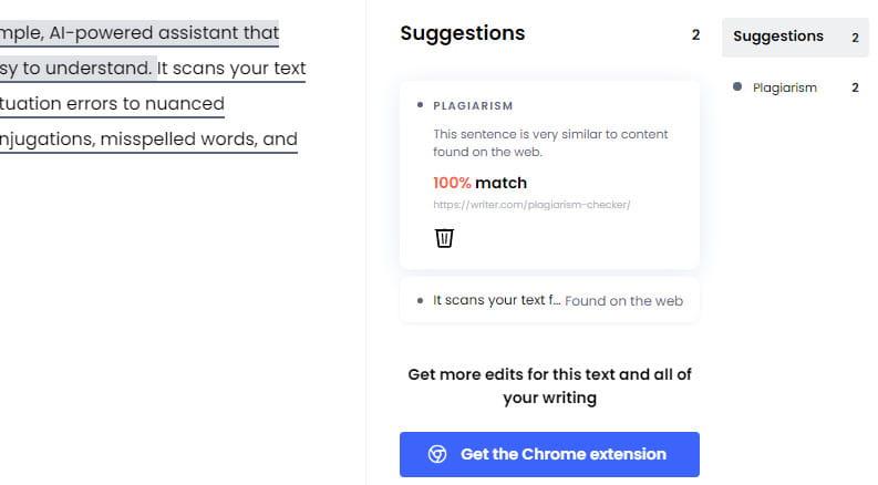 Writer plagiarism checker tool.