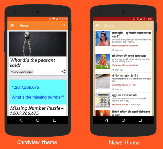 Native Android mobile app for WordPress site.