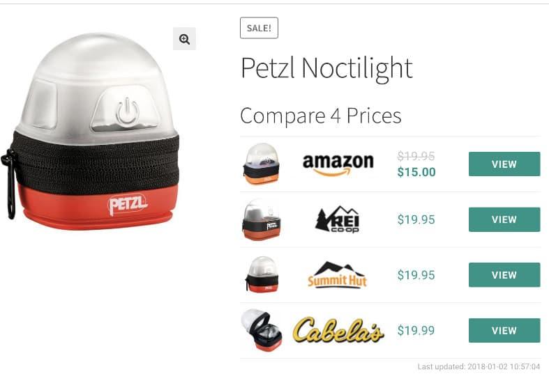 Datafeedr price comparison example.