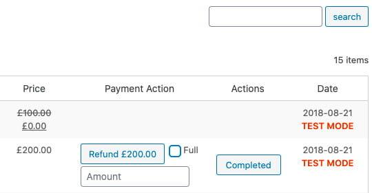 WooCommerce Stripe payment gateway partial refund.