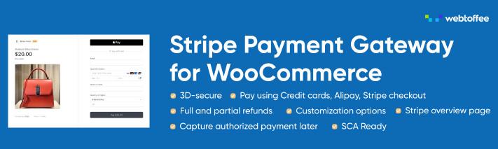 Free WooCommerce Stripe payment gateway plugin.