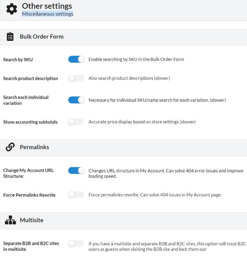 B22King advanced settings and options.