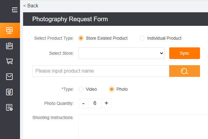 You can request product video or photos shooting.