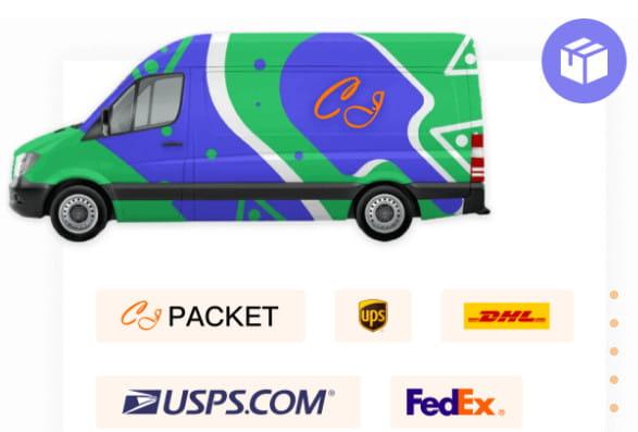 CJpacket shipping service.
