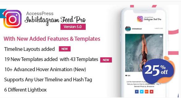 WordPress responsive Instagram feeds plugin.