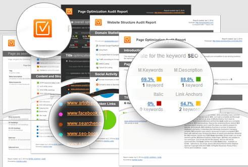 SEO PowerSuite page audit feature.