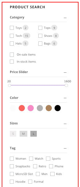 Free WooCommerce product filter plugin.