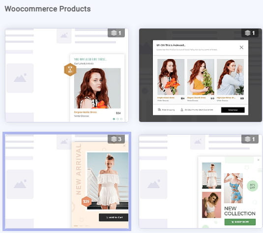 Brave WooCommerce products campaigns.