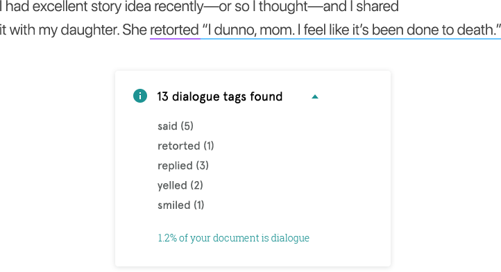 Dialogue Tags Check.