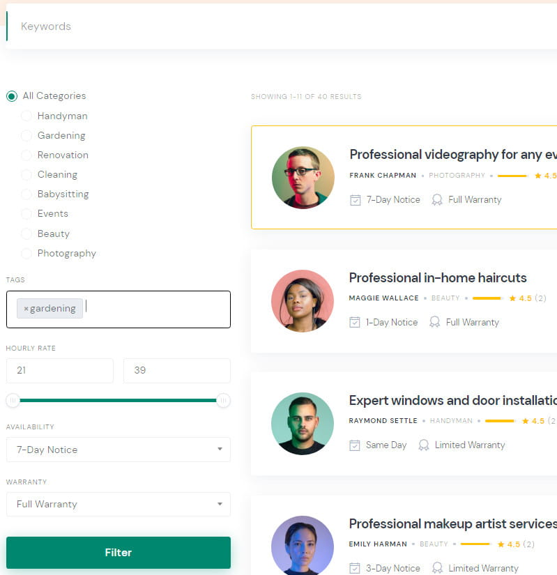 ExpertHive services page.