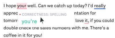 Grammarly spell check option.