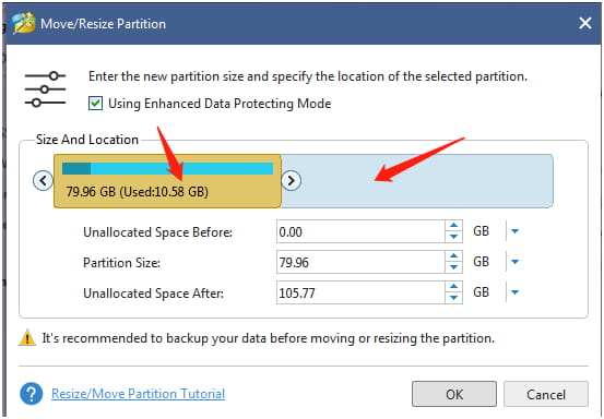 Partition Wizard how to move partition?