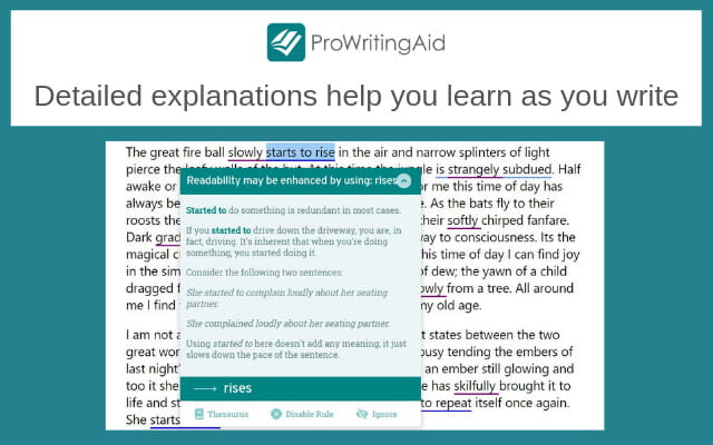 ProWritingAid is packed with tools to improve writing.