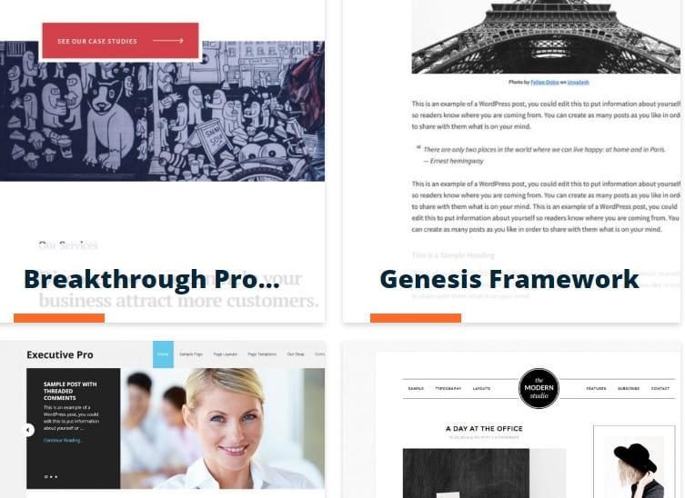 StudioPress themes WP Engine.