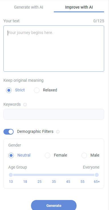 Anyword improve with AI option.