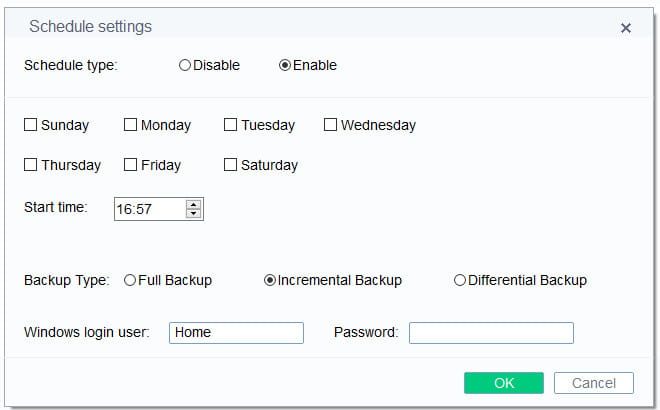DBackup backup modes.