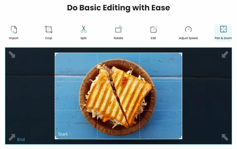 iMyFone Filme basic editing options.