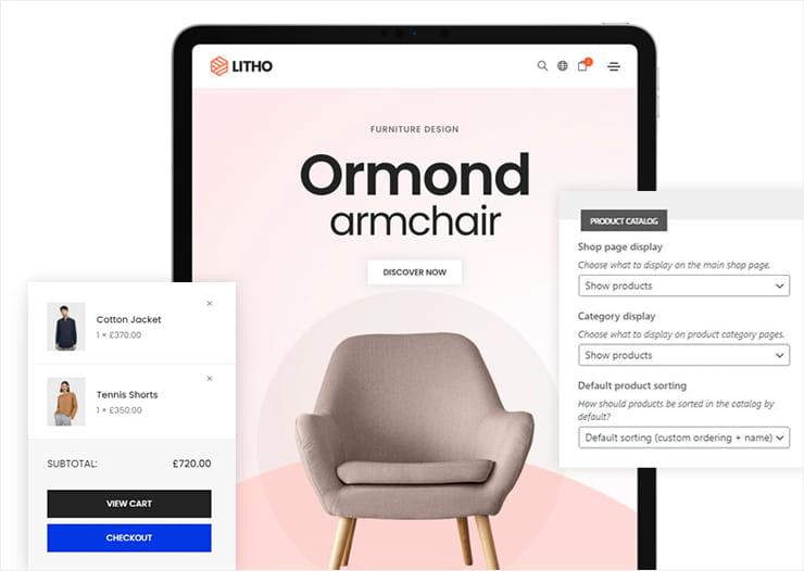 Litho theme WooCommerce integration.