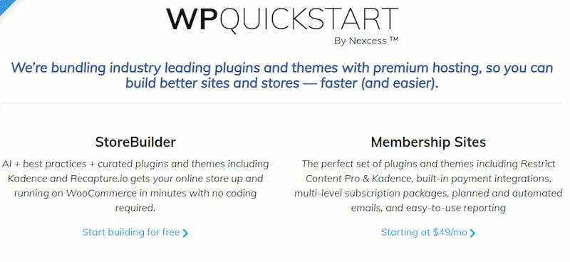 WPQuickStart by Nexcess review.
