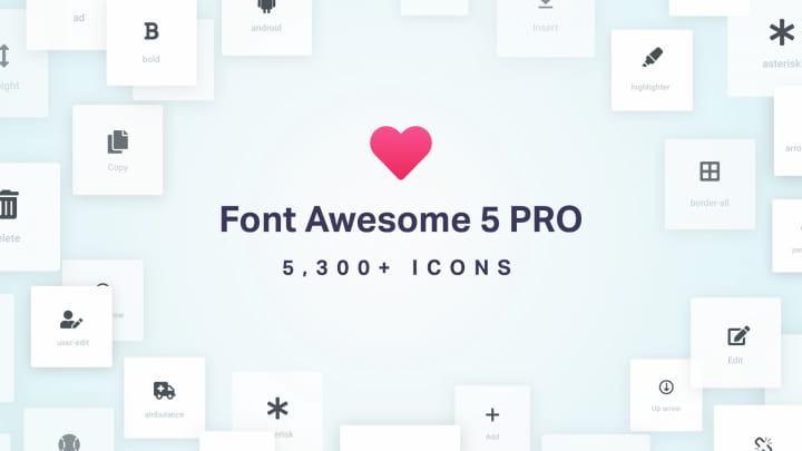 Elementor Font Awesome SVG icons.