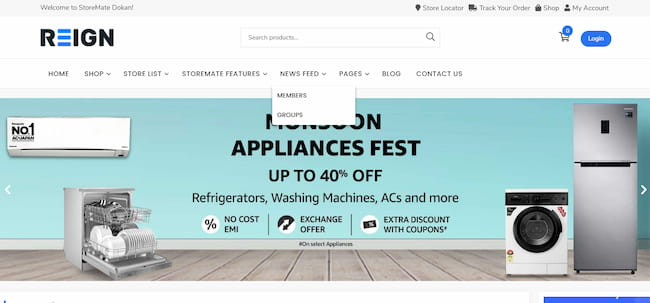 Create ecommerce sites using Reign theme.