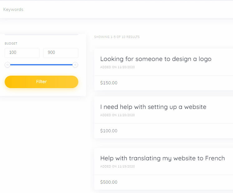 TaskHive requests page.