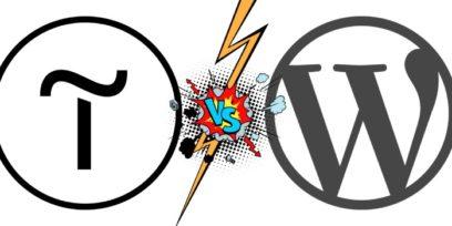 WordPress vs Tilda comparison.