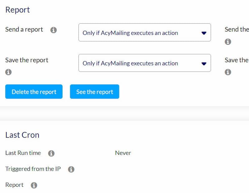 AcyMailing enabling reports.