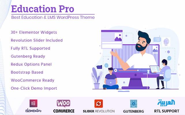Education Pro university theme for WordPress.