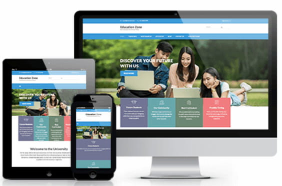 Education Zone WordPress theme.
