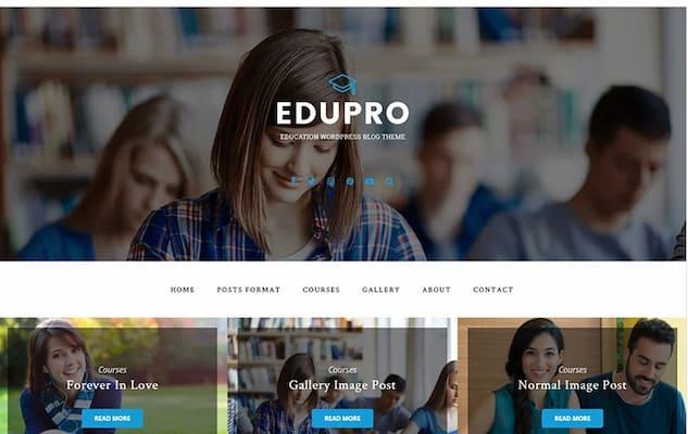 EduPro premium university theme.