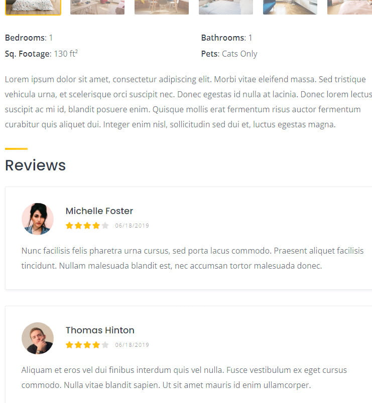 HivePress reviews and ratings.