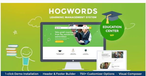 Hogwprds WordPress high school theme.