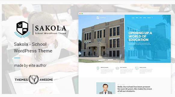 Sakola school WordPress theme.
