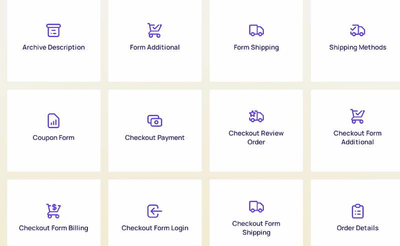 ShopEngine Elementor widgets.