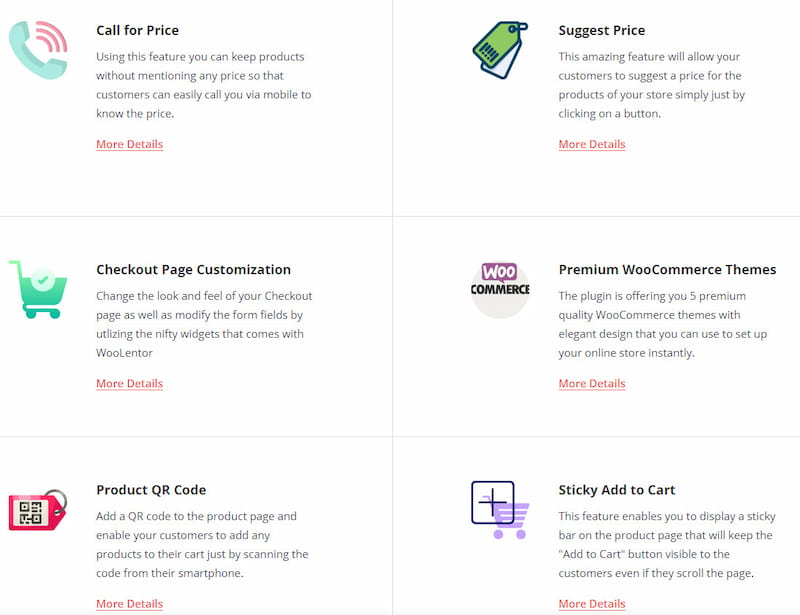 WooLentor WooCommerce page builder features.