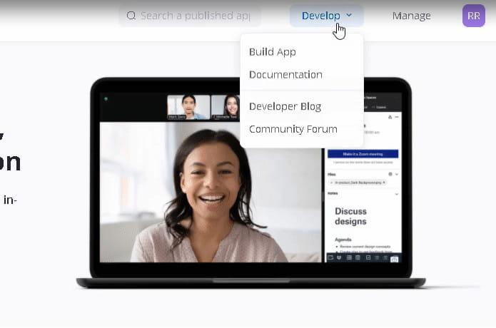 Zoom marketplace create app.